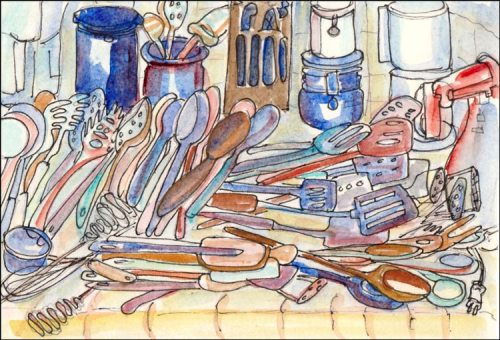 Hoard Spoons - Illustration Friday